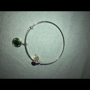 August Charm Bangle With Swarovski Crystal